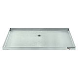 "Micro Matic Stainless Steel Surface Mount With Drain Drip Tray - 16"" X 8"" X 3/4"" - without Grill"