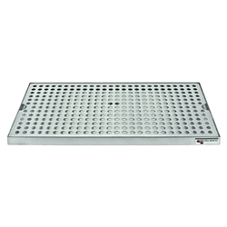 "Micro Matic Stainless Steel Surface Mount With Drain Drip Tray - 16"" X 8"" X 3/4"""