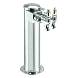 Micro Matic Stainless Steel Shotgun Beer Tower - Double Faucet [D4743SGPSS]