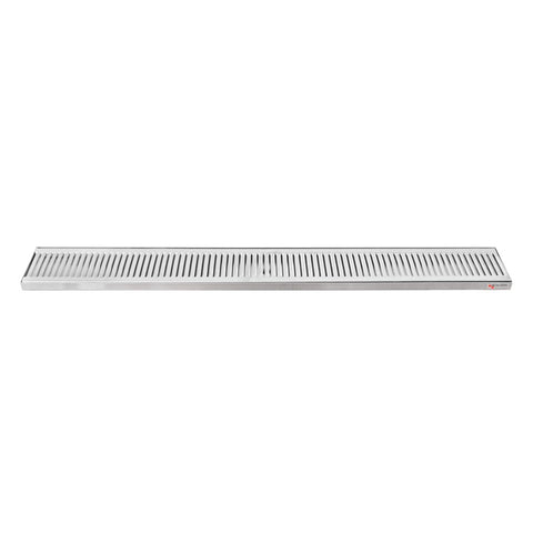 "39"" x 5"" x 3/4"" Micro Matic Stainless Steel Countertop Drip Tray"