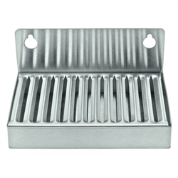 "Micro Matic Stainless Steel Wall Mount Drip Tray - 6"" X 4"" X 1"""