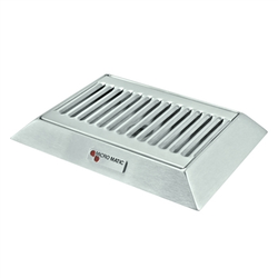 "Micro Matic Stainless Steel Bevel Edge With Drain Drip Tray - 9"" X 6 1/2"" X 3/4"""