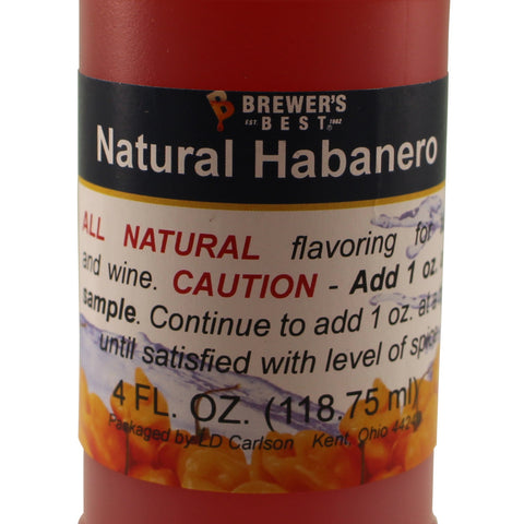 All Natural Habanero Flavouring - 4 fl oz (118 ml)