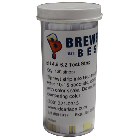 Beer pH Test Strips (pH 4.6 - 6.2)
