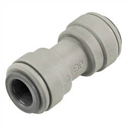 "John Guest Food Grade Plastic (Push-In) Straight Connector - 3/8"" (9.5mm)"