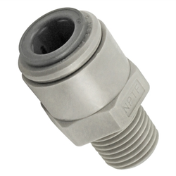 "John Guest Food Grade Plastic (Push-In) Fitting - 1/4"" Male NPT X 3/8"" (9.5mm)"