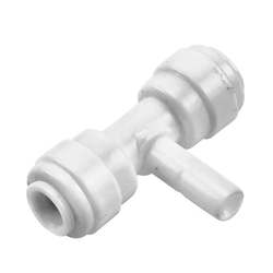 "Monotight Food Grade Plastic (Push-In) Male to Female Tee - 1/4"" (6.35mm)"