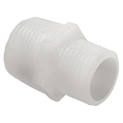 "Food Grade Plastic Fitting - 1/2"" Male NPT to 3/4"" Male NPT"