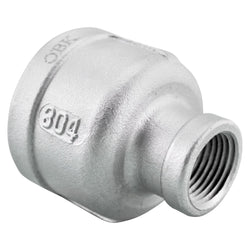"1"" Female NPT to 3/8"" Female NPT Stainless Steel Reducing Coupler"