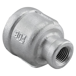 "1/2"" Female NPT to 1/8"" Female NPT Stainless Steel Reducing Coupler"