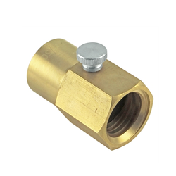 Brass Soda Stream Cylinder Adapter With Bleed Valve
