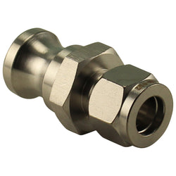 "Stainless Steel Camlock Compression Fitting - 1/2"" Comp to Male Camlock"