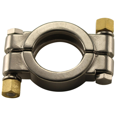"Stainless Steel Tri-Clover High Pressure Clamp - 1.5"" TC"
