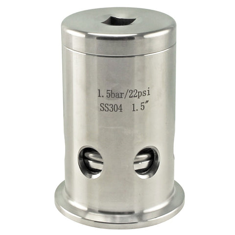 "Stainless Steel Tri-Clover Pressure Relief Valve – 1.5"" TC"