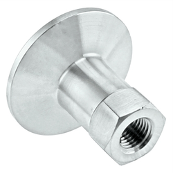 "Stainless Steel Tri-Clover Fitting - 1.5"" TC X 1/4"" Female NPT"