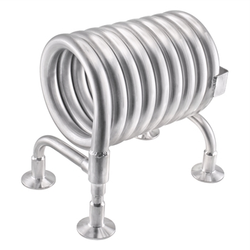 "Stainless Steel Convoluted Counterflow Wort Chiller - 1.5"" Tri-Clover"