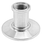 "Stainless Steel Tri-Clover Concentric Threaded Cap Reducer - 1.5"" TC X 1/2"" TC (1/4"" NPS)"