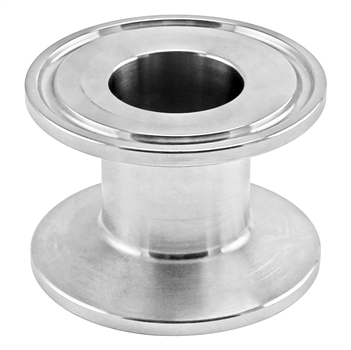 "Stainless Steel Tri-Clover Concentric Cap Reducer - 1.5"" TC X 1"" TC"