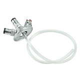 "Stainless Steel 2"" Tri-Clover Ball Lock Tapping Head - Commercial Keg Adapter - with Tubing"