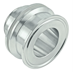 "Stainless Steel Tri-Clover Weldless Bulkhead Fitting - 2"" TC"