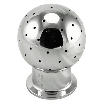 "Stainless Steel Tri-Clover Stationary CIP Spray Ball – 2"" TC"