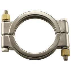 "Stainless Steel Tri-Clover High Pressure Clamp – 4"" TC"