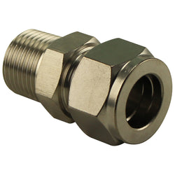 "Stainless Steel Compression Fitting - 1/2"" Male NPT to 5/8"" Comp"