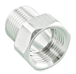 "Stainless Steel Thread Adapter - 1/2"" Male NPT to 5/8"" BSP"