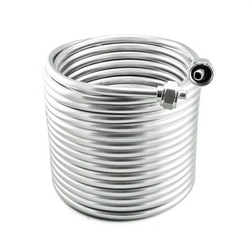 Stainless Steel Jockey Box Dual Coil - 50' of 3/8""