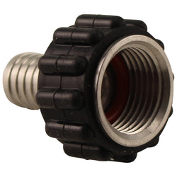 "Stainless Steel Barbed Quick Connector - 1/2"" Female NPT to 1/2"" Barb"