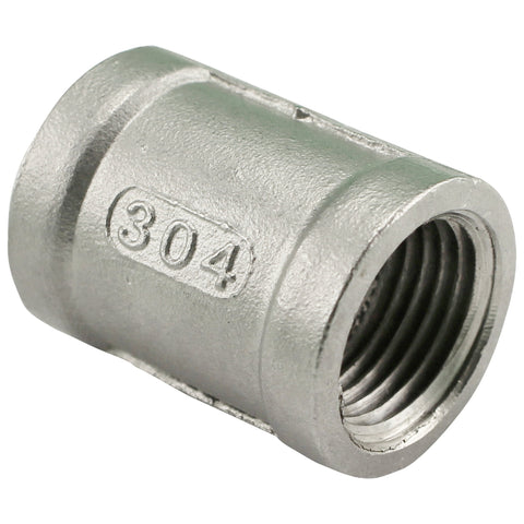"1/2"" Female NPT to 1/2"" Female NPT Stainless Steel Banded Coupler"