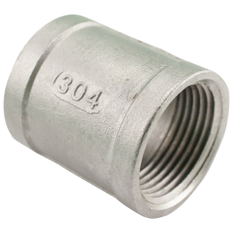 "1"" Female NPT to 1"" Female NPT Stainless Steel Banded Coupler"