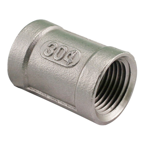 "3/8"" Female NPT to 3/8"" Female NPT Stainless Steel Banded Coupler"