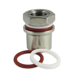 SS Brewtech Coupling for Bimetal Thermometers - Canadian Homebrewing Supplier - Free Shipping - Canuck Homebrew Supply