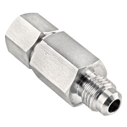"Stainless Steel 1/4"" MFL to FFL Check Valve for Gas Disconnects"