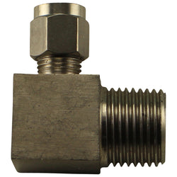 "Stainless Steel Compression Elbow - 1/2"" Male NPT to 1/4"" Comp"