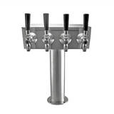 "Taprite Stainless Steel 4 Faucet ""T"" Beer Tower"