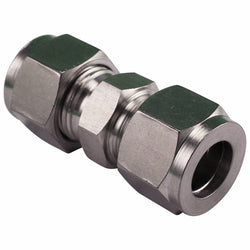 "Stainless Steel Fitting - 1/2"" Compression to 1/2"" Compression"