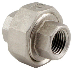 "Stainless Steel Union Coupler - 1/4"" Female NPT to 1/4"" Female NPT"