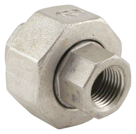 "Stainless Steel Union Coupler - 1/8"" Female NPT to 1/8"" Female NPT"