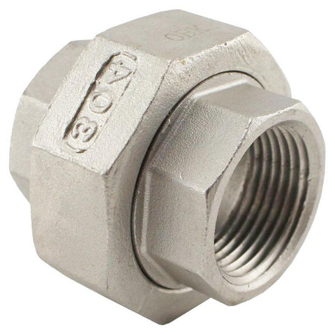 "Stainless Steel Union Coupler - 3/4"" Female NPT to 3/4"" Female NPT - Canadian Homebrewing Supplier - Free Shipping - Canuck Homebrew Supply"