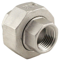 "Stainless Steel Union Coupler - 3/8"" Female NPT to 3/8"" Female NPT"