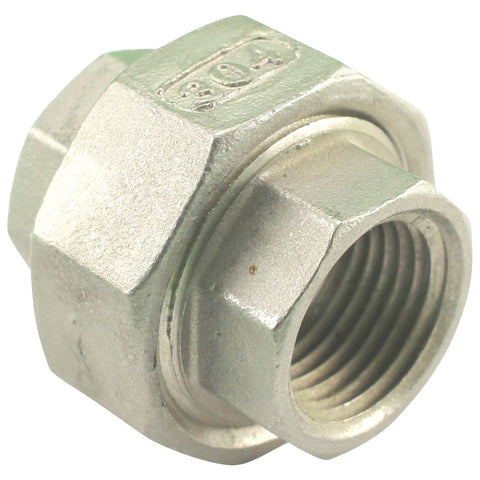 "1/2"" Female NPT to 1/2"" Female NPT Union Coupler Stainless Steel"