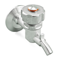 "Ss Brewtech Stainless Steel Tri-Clover Knob Sample Valve - 1.5"" TC"