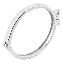 "Ss Brewtech Stainless Steel Tri-Clover Clamp - 8"" TC"