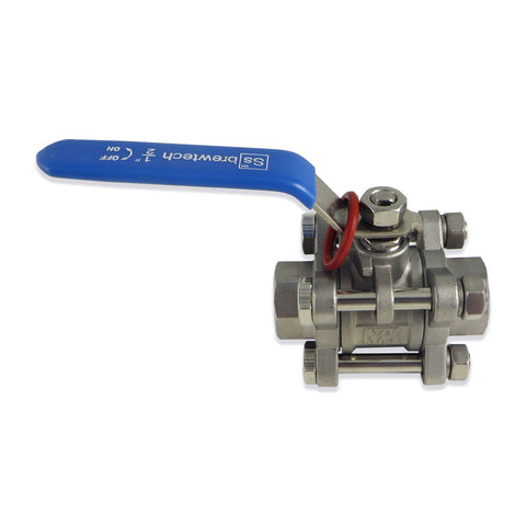 "SS Brewtech 3 Piece Ball Valve - 1/2"" Female NPT - Canadian Homebrewing Supplier - Free Shipping - Canuck Homebrew Supply"