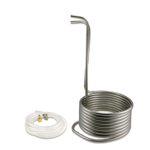 Stainless Steel Immersion Wort Chiller - 25' of 1/2""