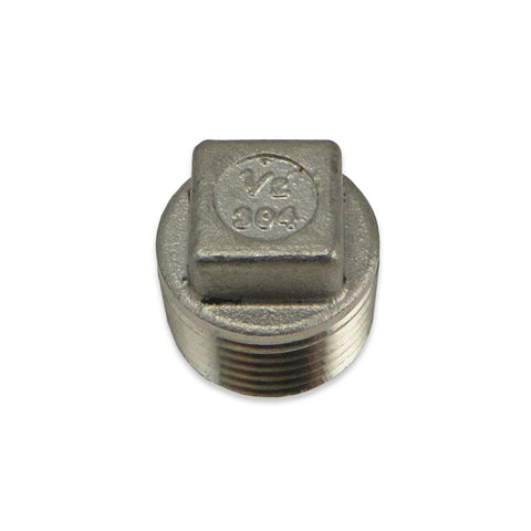 Stainless Steel Square Head Plug - 1/2""