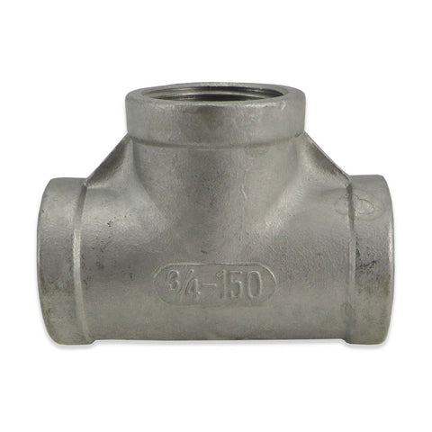 "Stainless Steel Tee - 3/4"" FPT"