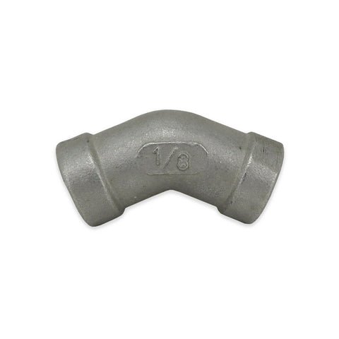 "Stainless Steel 45° Elbow - 1/8"" FPT"